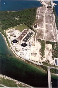 Wastewater Treatment in Key West Aerial